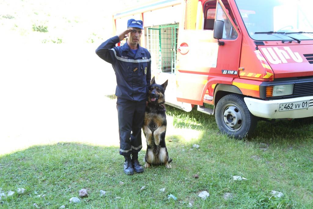 Հայաստանի կինոլոգներն ու փրկարար շները վերապատրաստվում են ռուս մասնագետների օգնությամբ