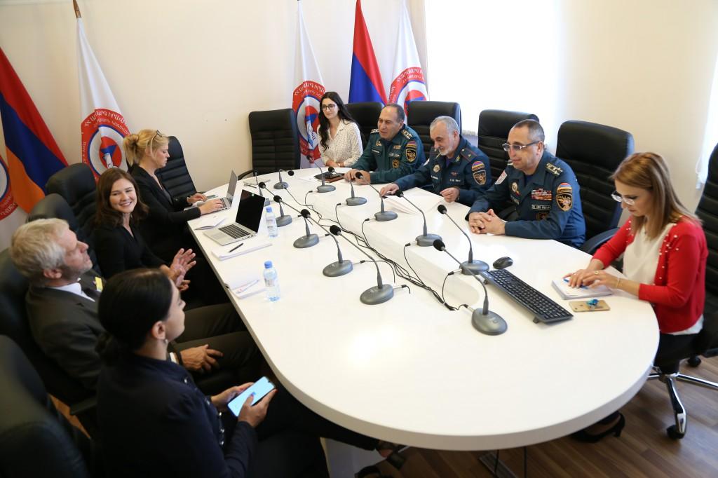 ՃԿՊԱ-ում էին ԵՄ «Քաղաքացիական պաշտպանության ընդլայնում» ծրագրի փորձագետները